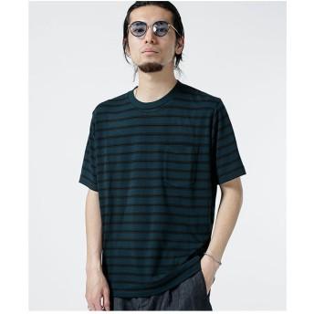 nano・universe レーヨン転換ボーダーTシャツ(パターン4)【返品不可商品】