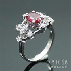 【Celosa珠寶】浪漫佳人紅寶戒指