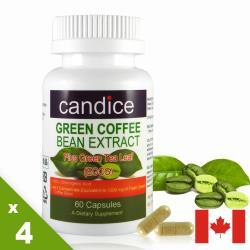 【Candice】康迪斯綠咖啡萃取膠囊(60顆*4瓶)