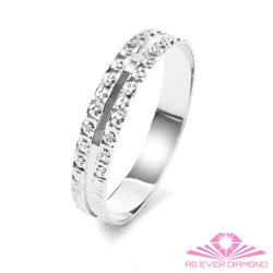 【AS EVER DIAMOND】義大利18K金戒指 獨特鑽石花刻面-超閃-#16 細薄款