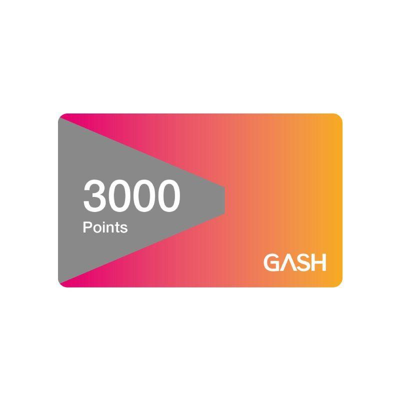 Gash Point 3000點 【經銷授權 APP自動發送序號】