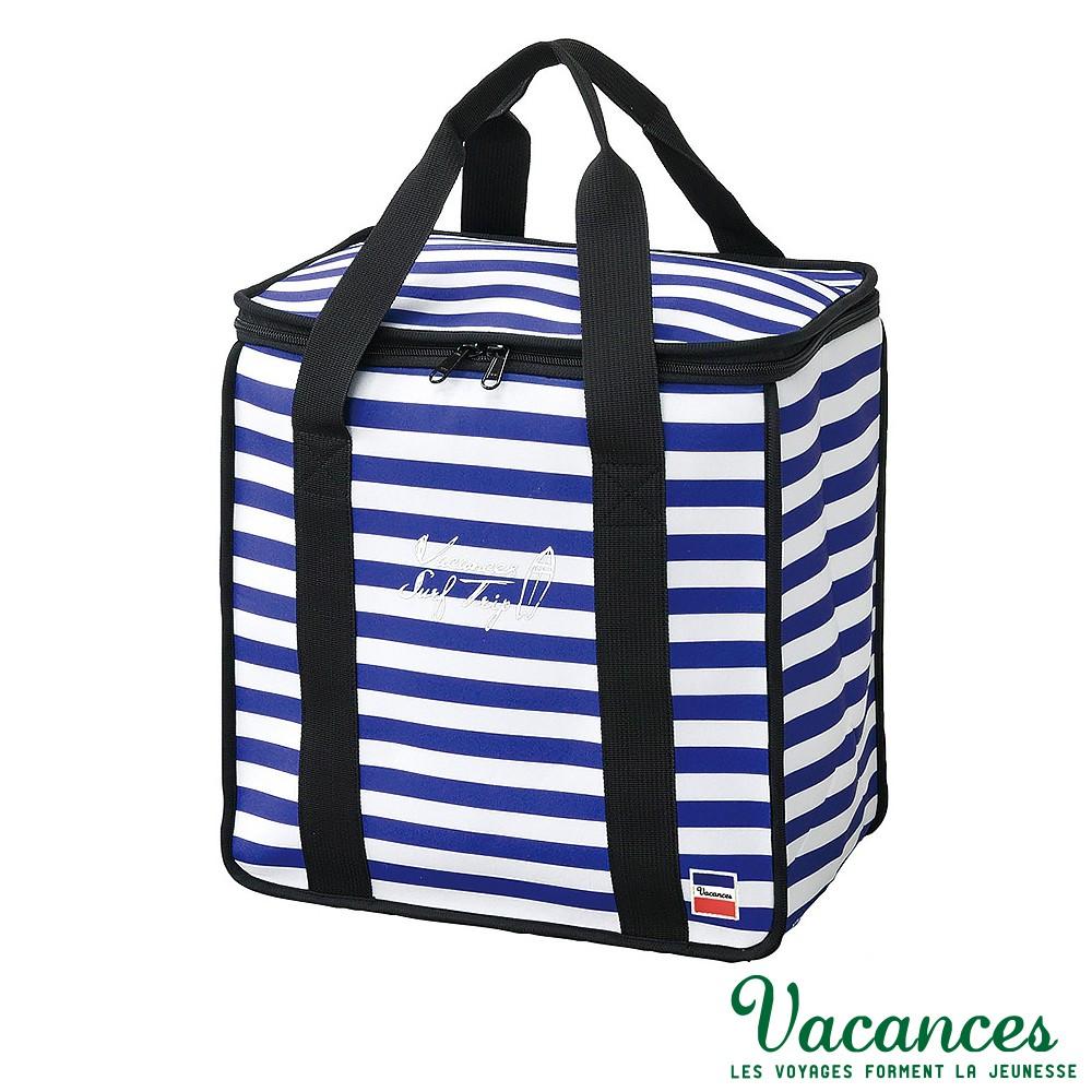 【日本 VACANCES】戶外郊遊 大容量 海軍藍 保溫保冷野餐袋 / 野餐 露營