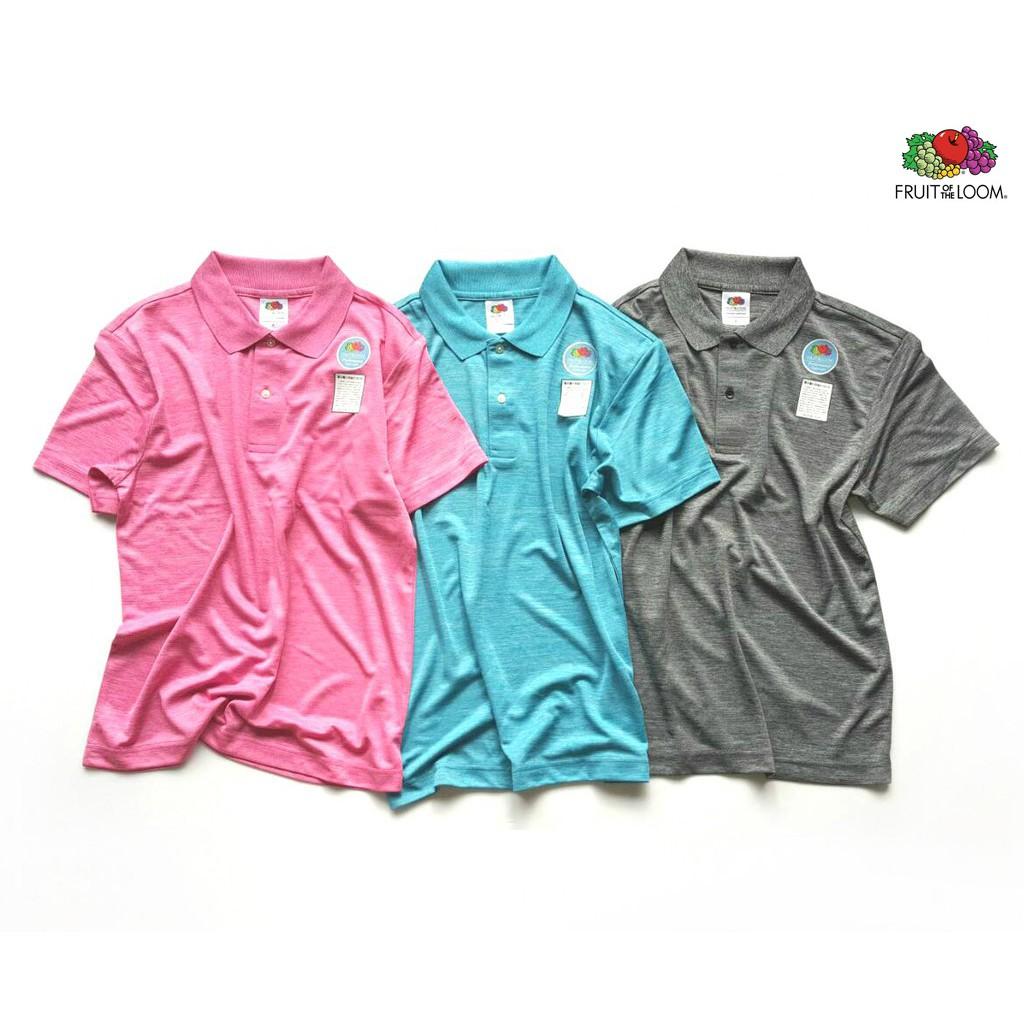 FRUIT OF THE LOOM 水果牌 DYP9000 吸濕排汗 4.1OZ 短袖 POLO衫 (絲光色) 化學原宿