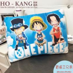 【HO KANG】正版授權 天絲可水洗童枕 - 航海王-冒險三兄弟