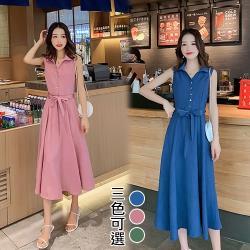韓國K.W. (預購) 活力宣言氣質綁帶洋裝
