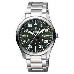 ORIENT 東方錶 SP 系列 飛行運動石英錶 綠x銀 42mm FUNG2001F