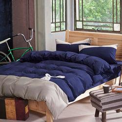 RODERLY 英倫兔(藍) 貼布繡 單人三件式被套床包組
