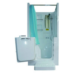 【海夫健康生活館】開門式浴缸102B-R 氣泡按摩款 (100*78*205cm)