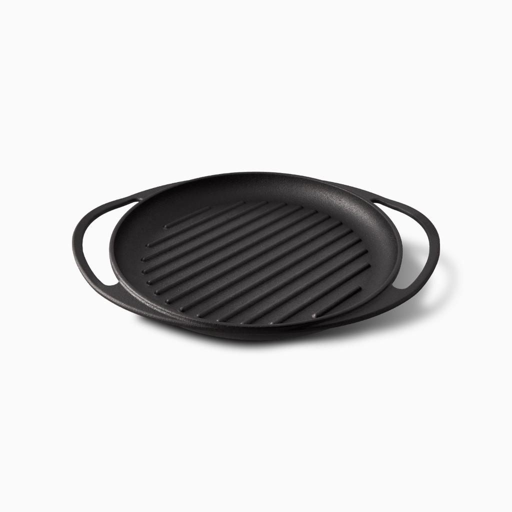 【Flambo富蘭鍋】新‧鑄黑系列鑄鐵雙耳烤盤 露營 登山 野炊
