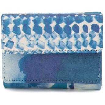 IEye's I Eye's アイアイズ Chinese blue 三つ折り財布 財布,ブルー