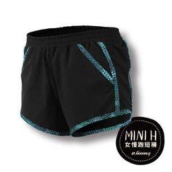 【HODARLA】女MINI H 慢跑短褲- 路跑 運動 休閒 黑藍綠