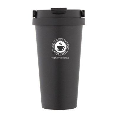 辦公室保溫咖啡杯冷泡茶杯沖泡杯304不銹鋼保溫杯手提帶蓋500ML E104