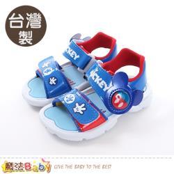 魔法Baby 男童鞋 台灣製迪士尼米奇正版閃燈涼鞋~sk0462