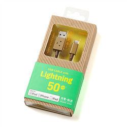 日本cheero阿愣lightning  USB充電傳輸線:50公分 (Apple專用)-行動