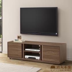 日本直人木業-ALEX胡桃木簡約150公分電視櫃