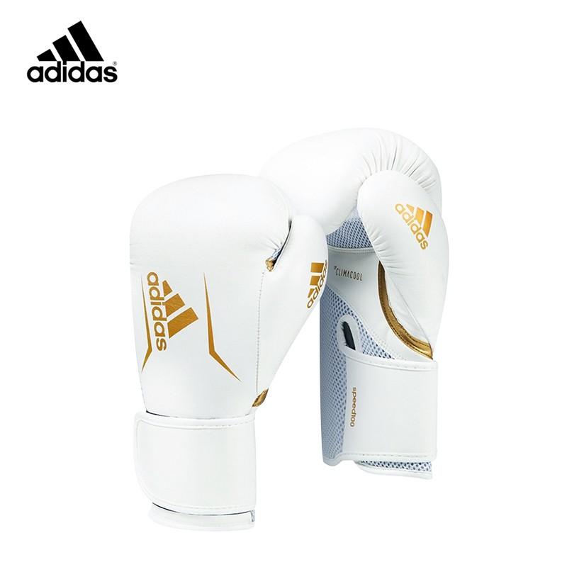 adidas SPEED100 拳擊手套 白金