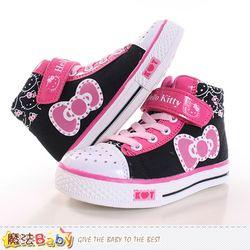 魔法Baby 女童鞋 Hello Kitty正版潮款高筒帆布鞋~sh9989