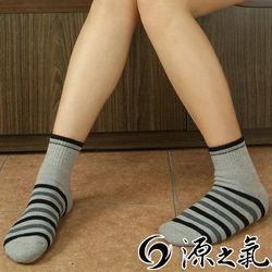 【源之氣】竹炭條紋短統休閒運動襪/女 6雙組 RM-30006