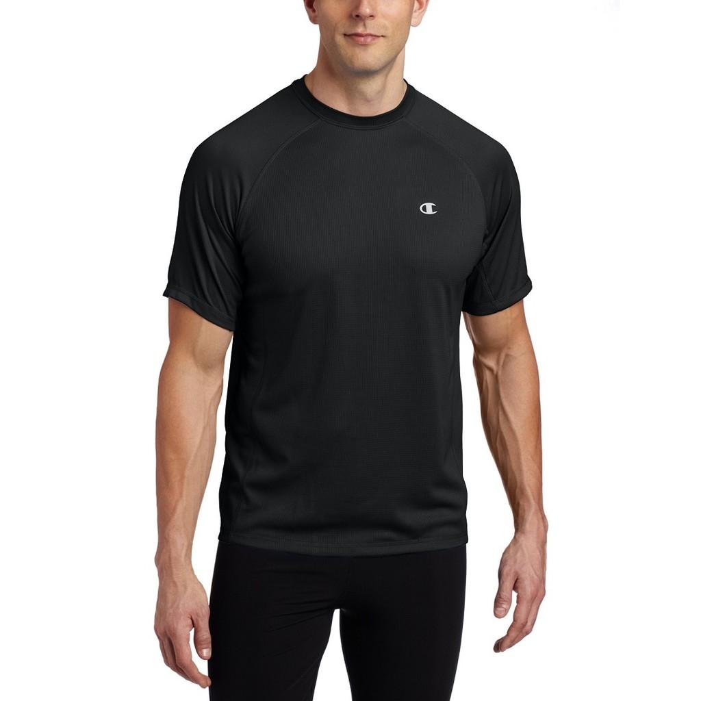 Champion【寶立公司貨】【黑色短袖吸排T恤T2098】Tag-free舒適無布標.Double Dry永久吸排