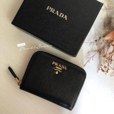 PRADA 皮夾 經典水波紋❤️超美❤️零錢包 卡包 小短夾 現貨在台