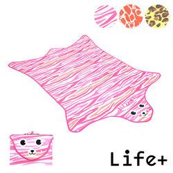 【Life Plus】動物叢林  造型野餐墊/遊戲墊 (粉色_虎紋)