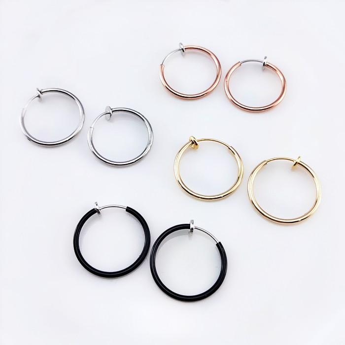 夾式耳環 現貨 不敗款簡約百搭經典2CM圓形圈圈夾式耳環 K91320 批發價 Danica 韓系飾品 韓國連線