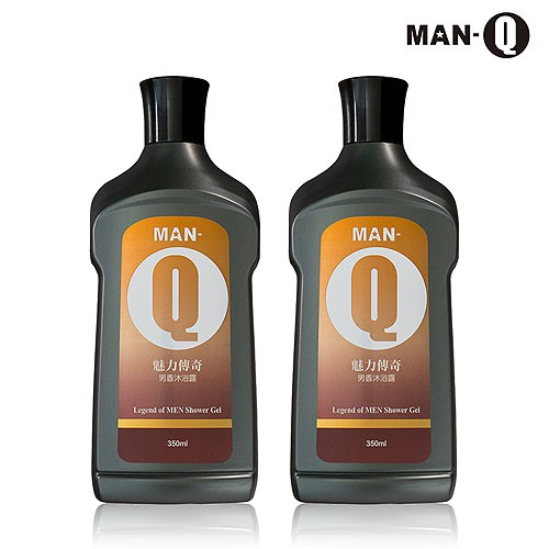 [滿額贈]【MAN-Q】魅力傳奇男香沐浴露350mlx2瓶 免運(加送MAN-Q風格造型髮雕200g*1罐)