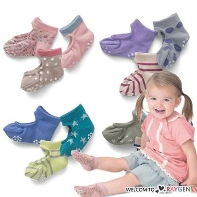 寶寶碎花星星條紋挖洞透氣襪 嬰兒襪 3雙一組