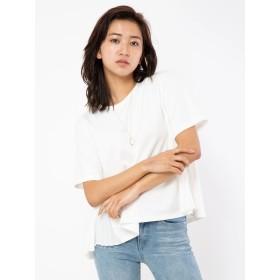 Tシャツ - CECIL McBEE 脇プリーツネックレストップス
