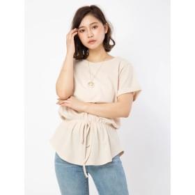 Tシャツ - CECIL McBEE ネックレス付きワッフルトップス