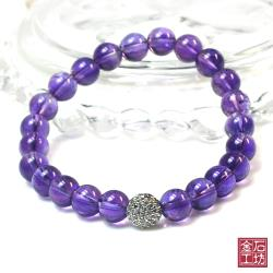 【金石工坊】戀愛之石紫水晶手鍊