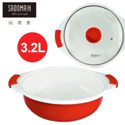 SADOMAIN仙德曼 琺瑯圓湯鍋(中)-3.2L