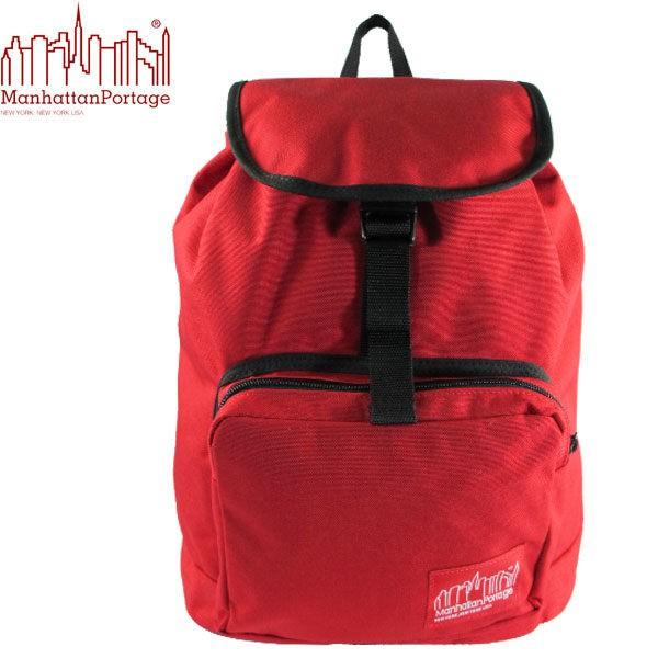 【出清品】Manhattan Portage 曼哈頓包 後背包 潮流束口後背包 1219-RED 紅色 得意時袋