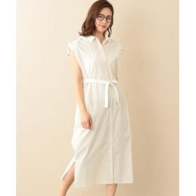 (LE JOUR/ル ジュール)【RELDI】STRIPE CLERIC SHIRT DRESS/レディース イエロー系