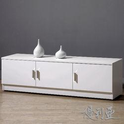 【優利亞-米洛純白】4尺坐式鞋櫃