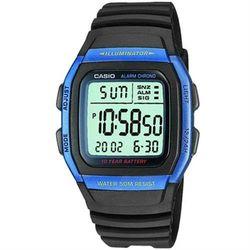 【CASIO】 樂活休閒運動數位錶-藍框  (W-96H-2A)