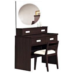 【時尚屋】[G16]凱特2.7尺胡桃鏡台-含椅子G16-033-5