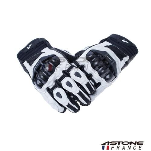 【ASTONE】LC01 (白) 短款 防摔手套 透氣 開放式護具 碳纖維 滑塊設計