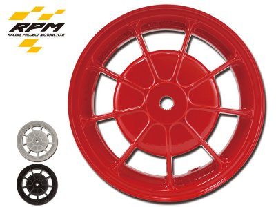 駿馬車業 RPM 新勁戰專用(12吋)黑/銀/紅/金10爪輪框 一組4400 另有BWS/雷霆/超5雙碟/(G6前輪)