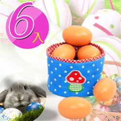 【funKids】兒童-木製仿真彩繪雞蛋(6入)