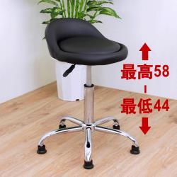 E-Style 高級皮革椅面(固定腳)旋轉工作椅 升降吧台椅 會客洽談椅 休閒餐椅 診療美容椅 專櫃台椅-黑色