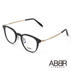 ABBR 北歐瑞典鋁合金設計NP系列光學眼鏡(黑金) NP-01-002-C01