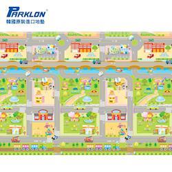 【BabyTiger虎兒寶】PARKLON 韓國帕龍無毒地墊 - 單面切邊 (車車迷宮)