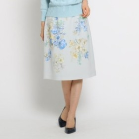 スーナウーナ(SunaUna)/【洗える】ボタニカルツイルスカート