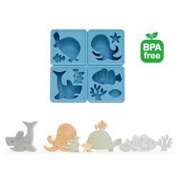 eeeek 艾克魔塊 可愛動物造型模組-海洋生物(藍)