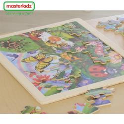 【英國Masterkidz】48片木製拼圖-昆蟲