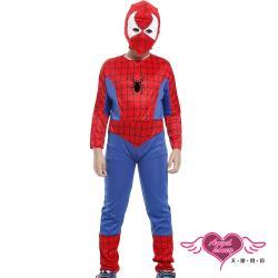 天使霓裳 角色扮演 蜘蛛人 兒童萬聖節派對表演服(藍紅M~XL) TH0908