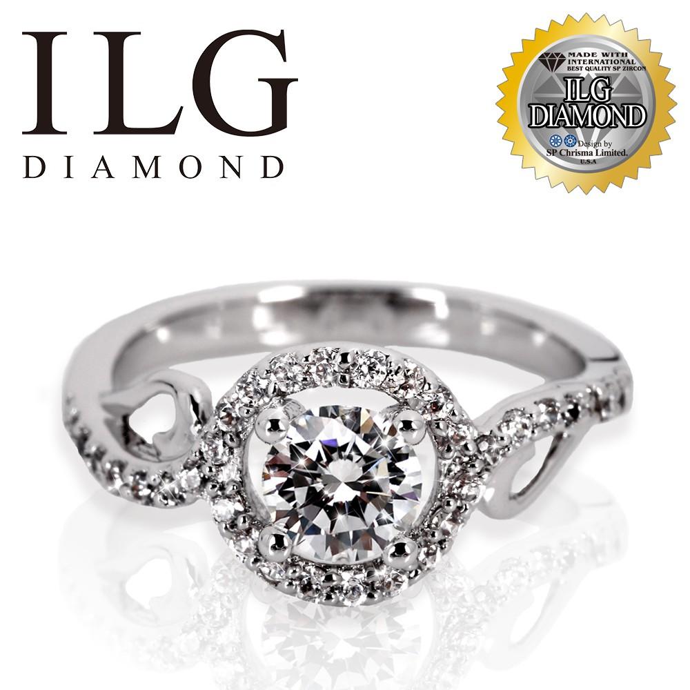 【ILG頂級美國鑽飾】八心八箭戒指 RI167- 把妳珍藏款 主鑽約50分 閃耀指尖魅力 媲美真鑽亮度