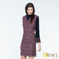 MONS國際專櫃小香風羔羊毛優雅洋裝