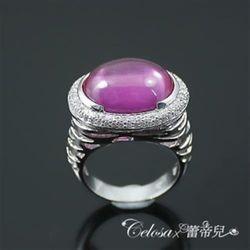 【Celosa珠寶】繽紛桃紅科技剛玉戒指